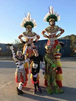 WDW Marathon Lion King stiltwalkers