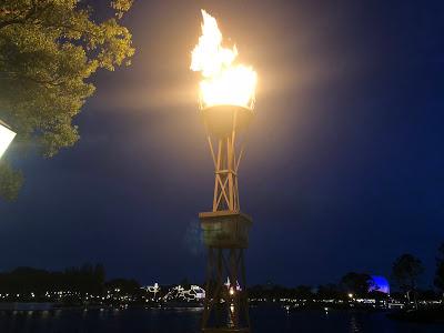 World Showcase torch