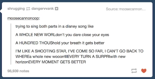 Singing all the parts
