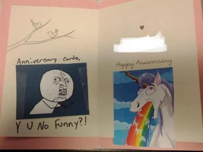 Weird anniversary card