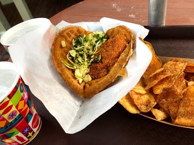 Disney snacks: Sleepy Hollow waffle sandwich