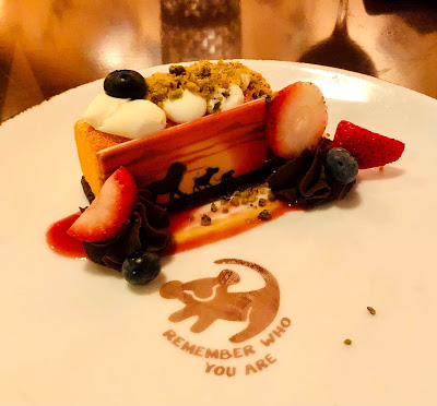 Lion King dessert at Tiffins