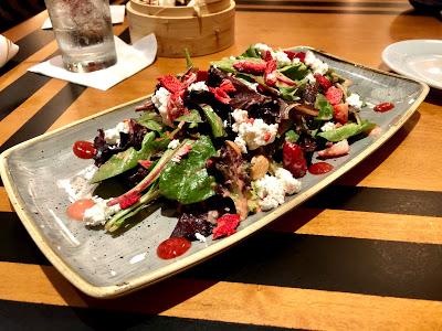 Seasonal salad at The Wave