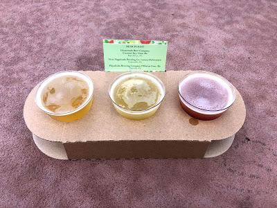 Citrus Blossom beer flight