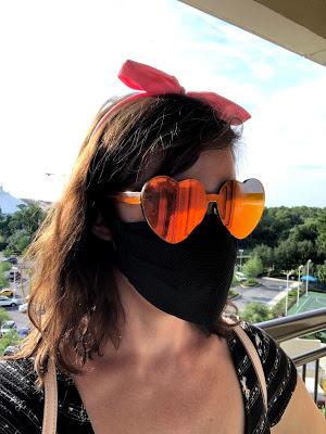 Mask and sunglasses