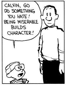 Calvin & Hobbes build character