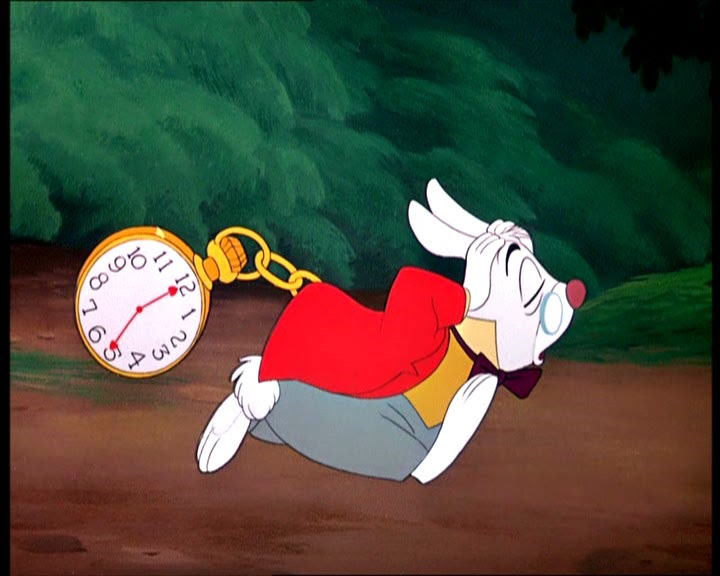 White rabbit is late